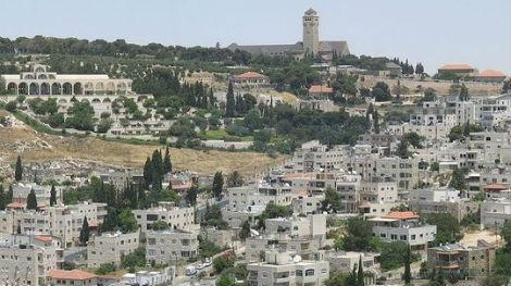 Homes on a hillside in Jerusalem